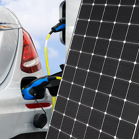 Why is solar power inter linked with the growth of the electric car?