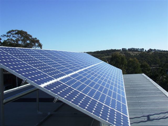 We suggest tilt frames on flat roofs to increase solar system output