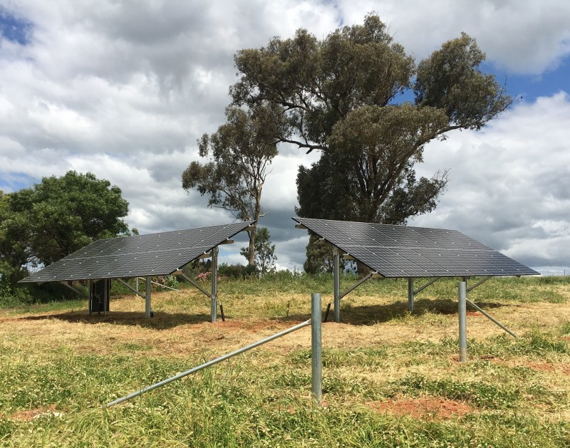 10kW Ground mounted system with LG NeON2 solar PV modules.