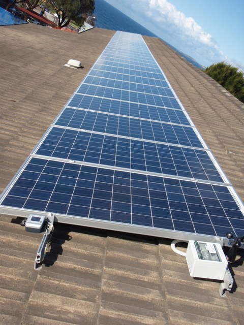 Ask us for the monitoring equipment to monitor your solar output. Narooma High School NSW
