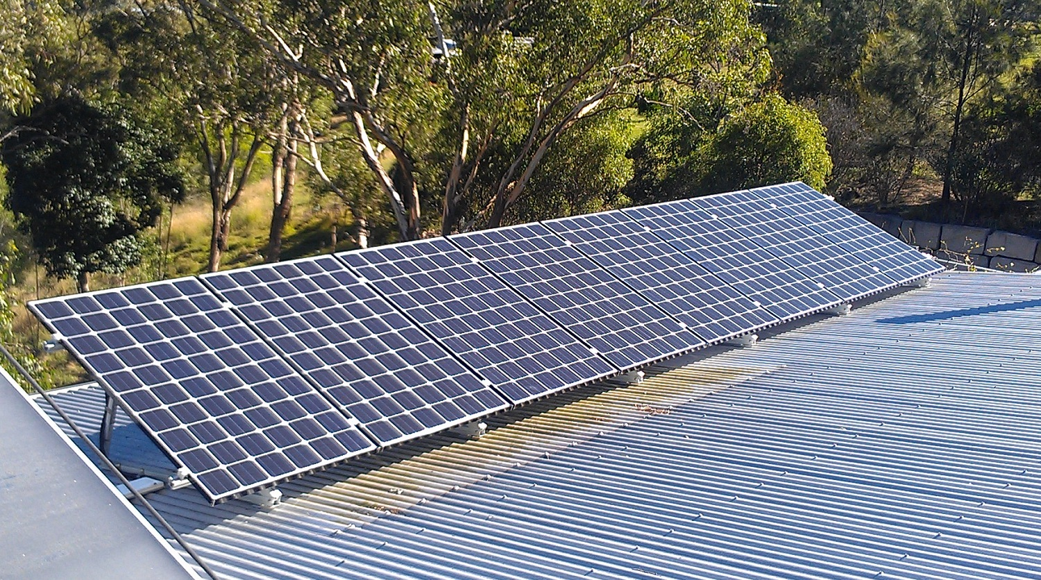 We recommend tilt frames on flat roofs for better solar output.