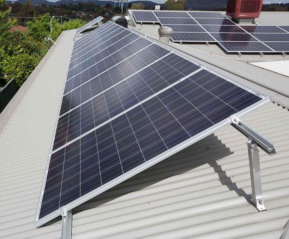 If you roof is flat or only has a small angle tilt frames can improve the solar electricity output