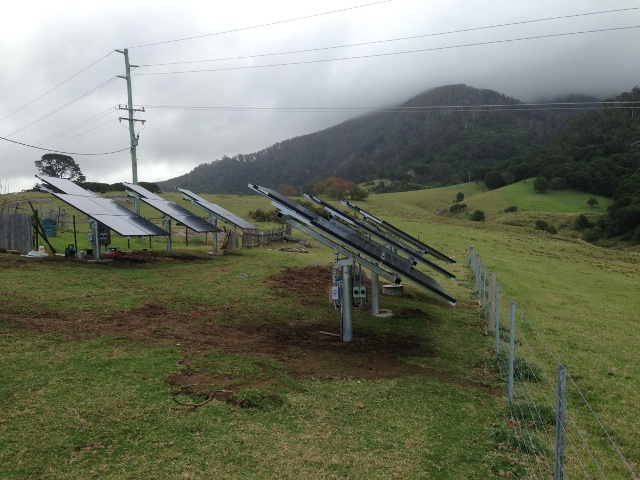 We undertake residential as well as commercial installations. 10kW ground mounted Tilba Tilba NSW
