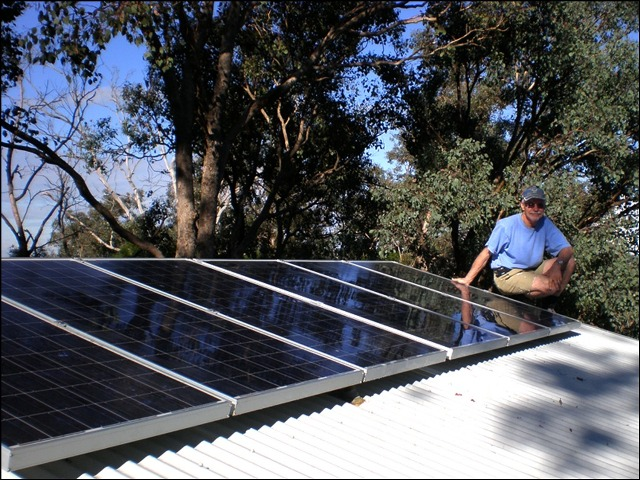 Solar PV installation at Eltham, Victoria