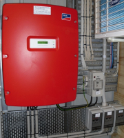 This is a German made SMA central solar inverter, one of the most reliable inverters on the market