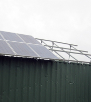 Stand alone PV system during installation