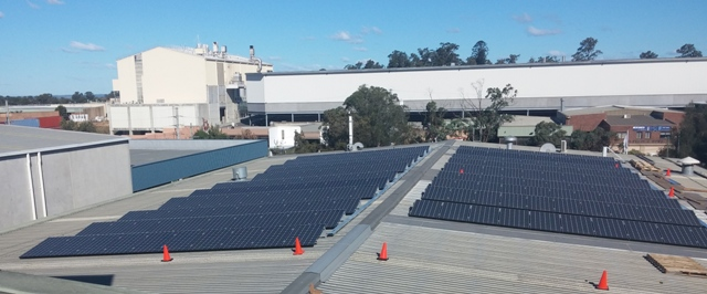 Autonomous Energy- 100kW LG solar installation at Wetherill Park, NSW