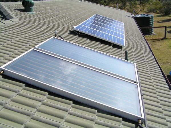 solar electric and solar hot water modules