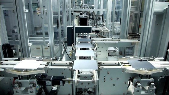 LG operates a number of automated solar panel production lines