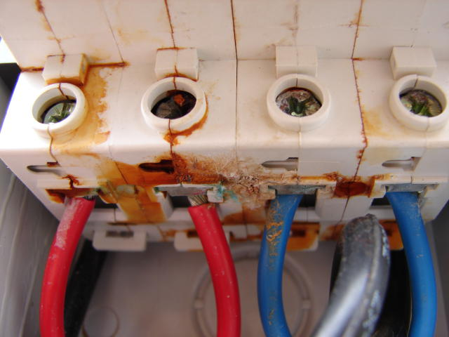 Water damage in isolator