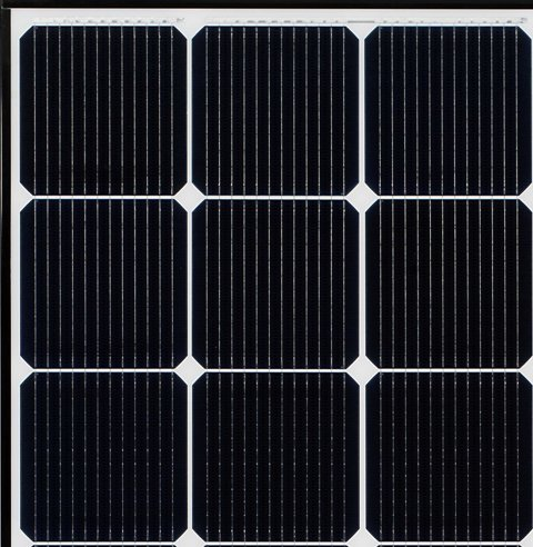 solar panel close up shot