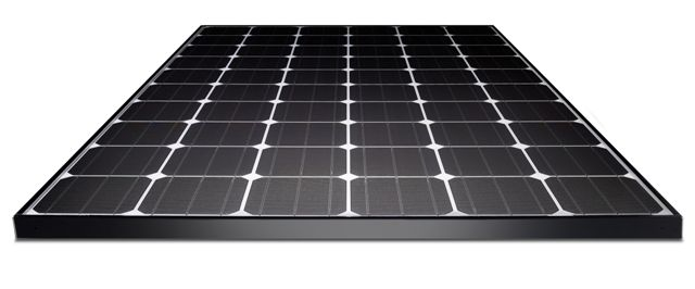 LG solar modules calculate the amount of electricity being generated