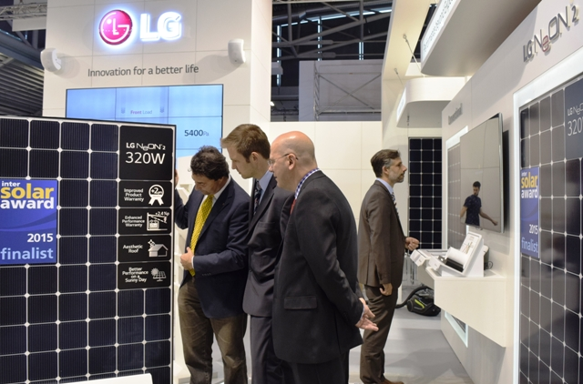 Latest LG solar Cello technology wins Intersolar Award 2015