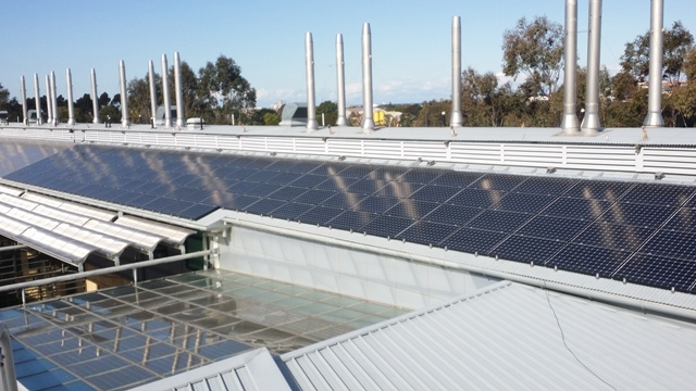 54kW solar installation at CSIRO Energy Centre in Newcastle