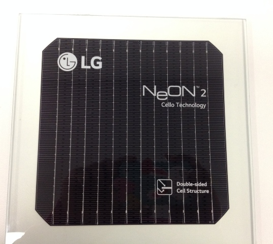 LG manufactures its own solar cells