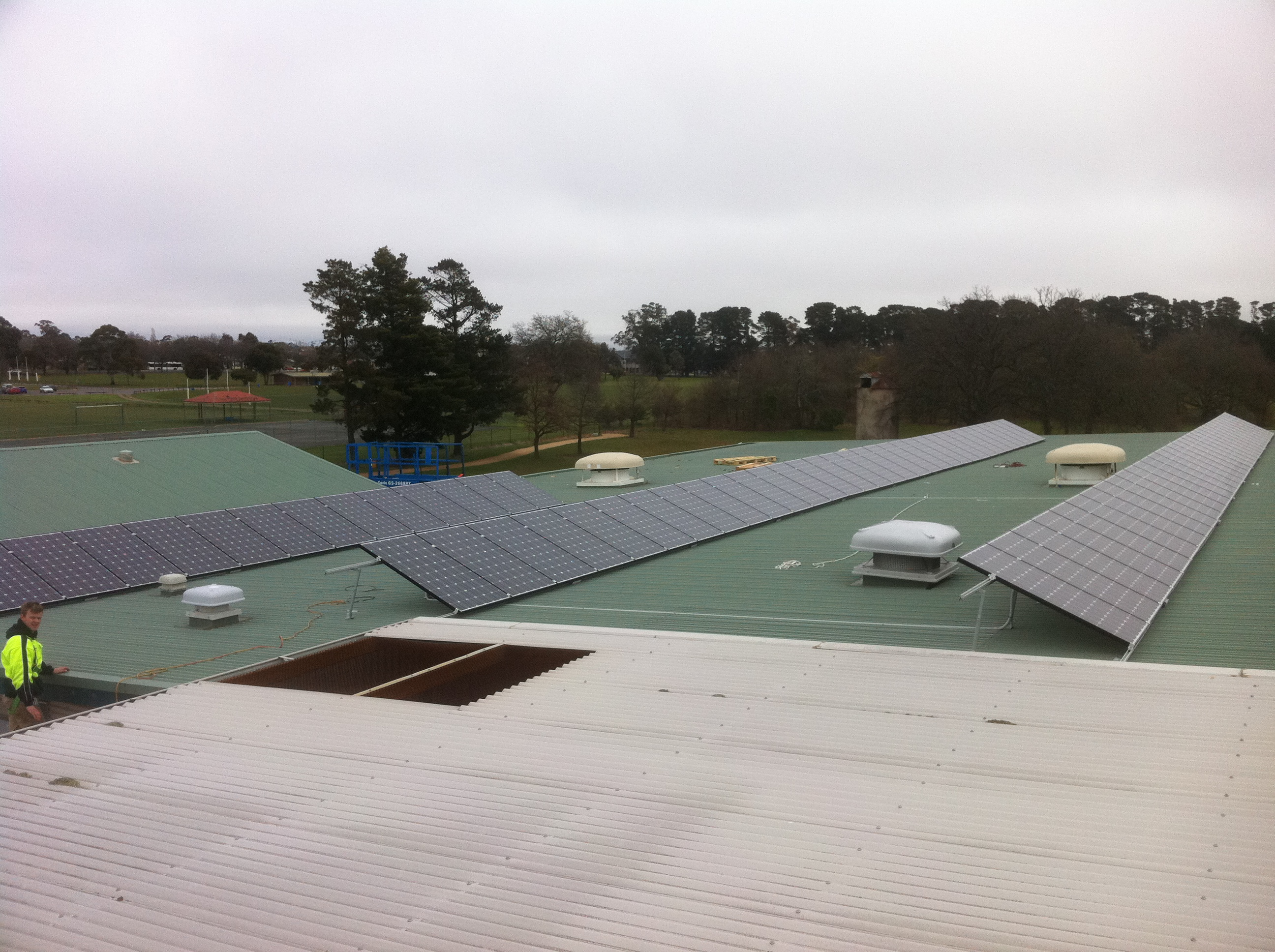 Aquatic centre solar installation