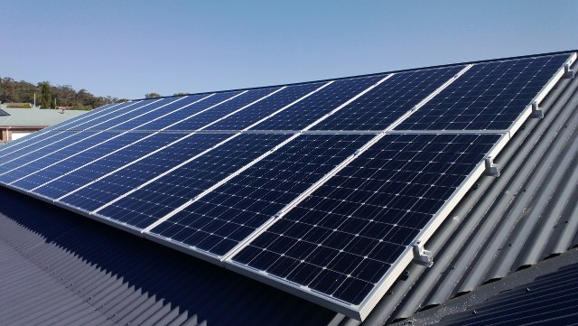 Solar PV installation by Whitney Electrical, Hobart