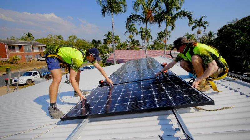 Solar install adds property value.