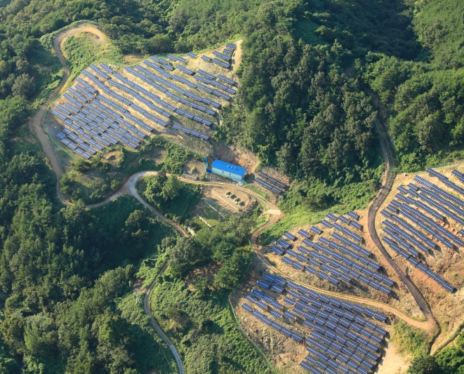 Yecheon solar farm, Korea