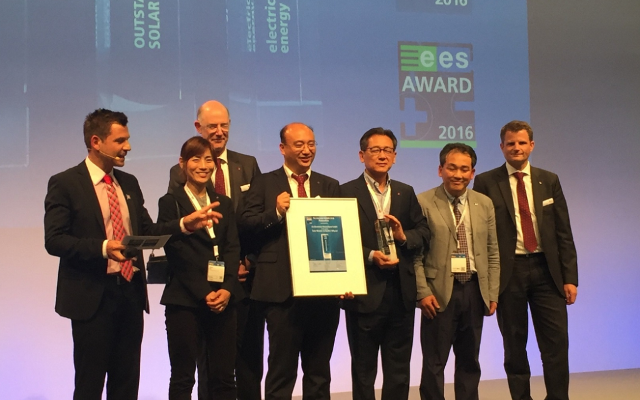 LG's Bifacial panel won the Intersolar award