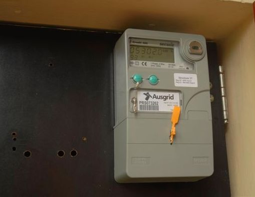 Modern meter - solar power/electricity not used is exported to grid