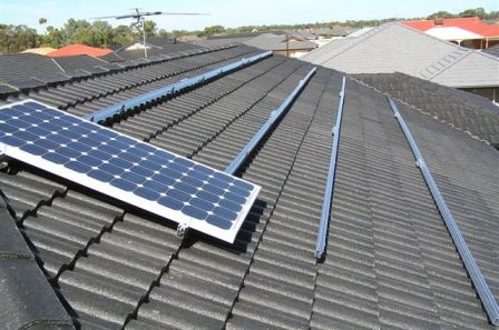 Solar systems can be installed on many roof types
